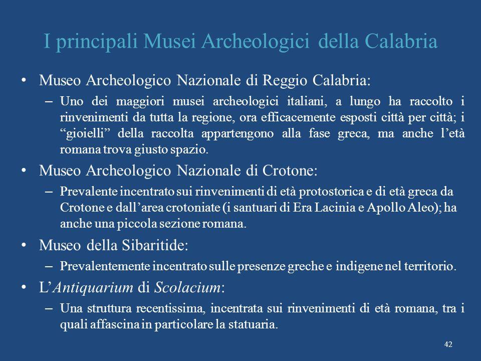 I principali Musei Archeologici della Calabria