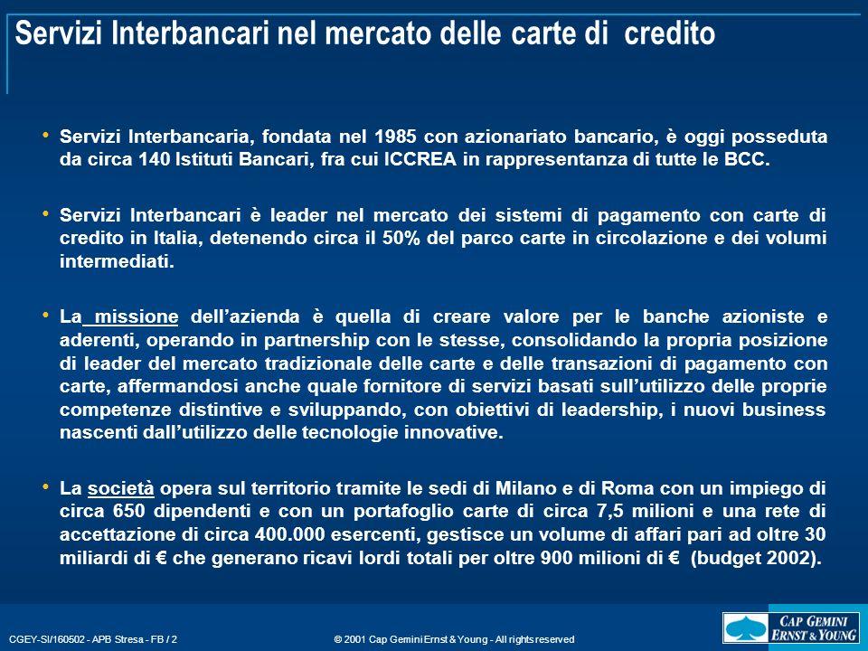 Servizi Interbancari nel mercato delle carte di credito