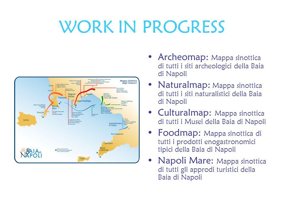 WORK IN PROGRESS Archeomap: Mappa sinottica di tutti i siti archeologici della Baia di Napoli.