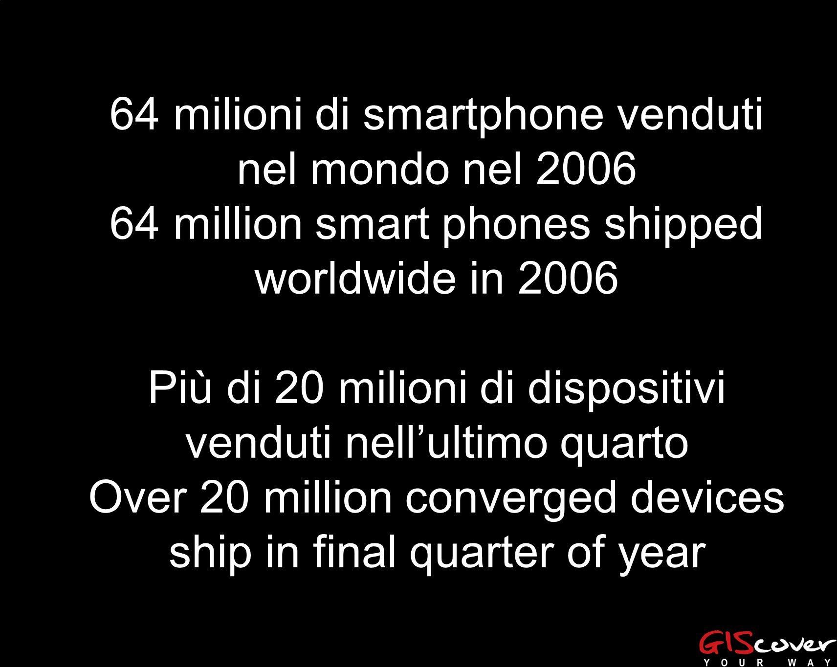 64 milioni di smartphone venduti nel mondo nel 2006