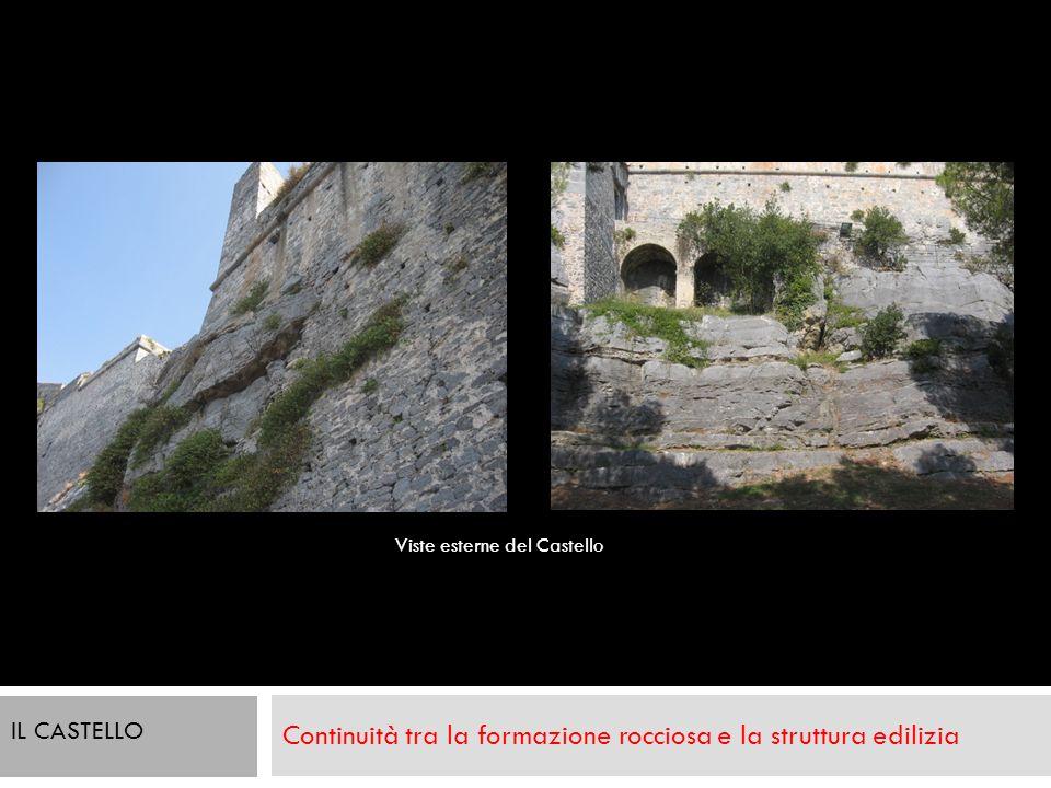 Continuità tra la formazione rocciosa e la struttura edilizia