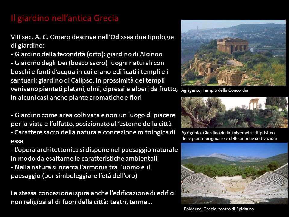 Il giardino nell'antica Grecia