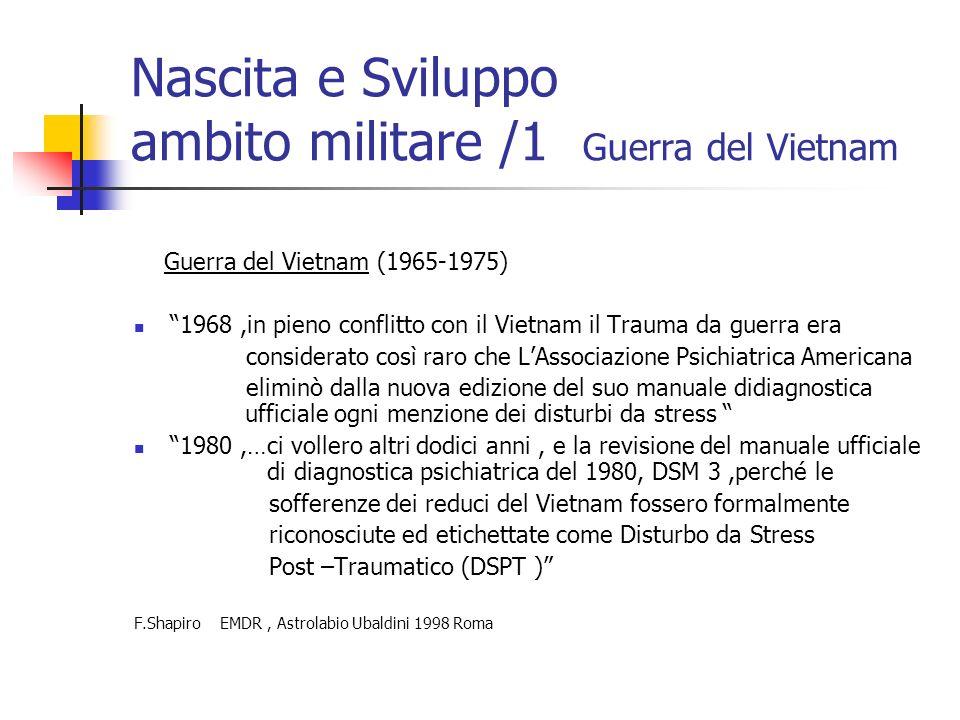 Nascita e Sviluppo ambito militare /1 Guerra del Vietnam
