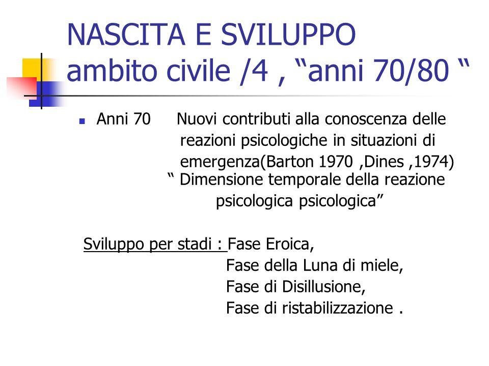 NASCITA E SVILUPPO ambito civile /4 , anni 70/80