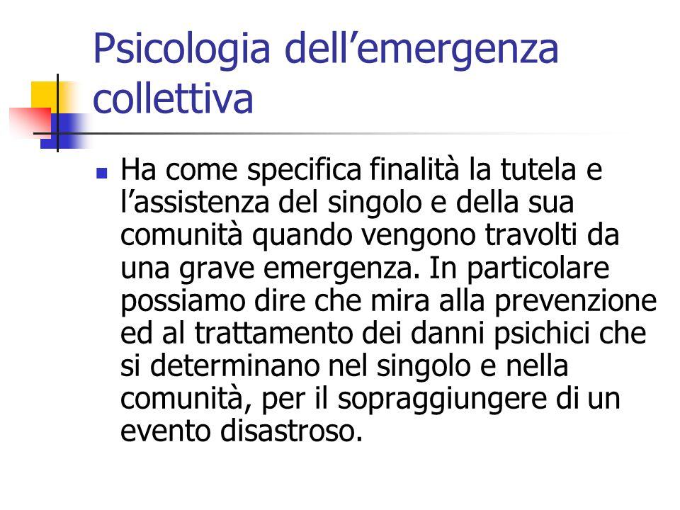Psicologia dell'emergenza collettiva