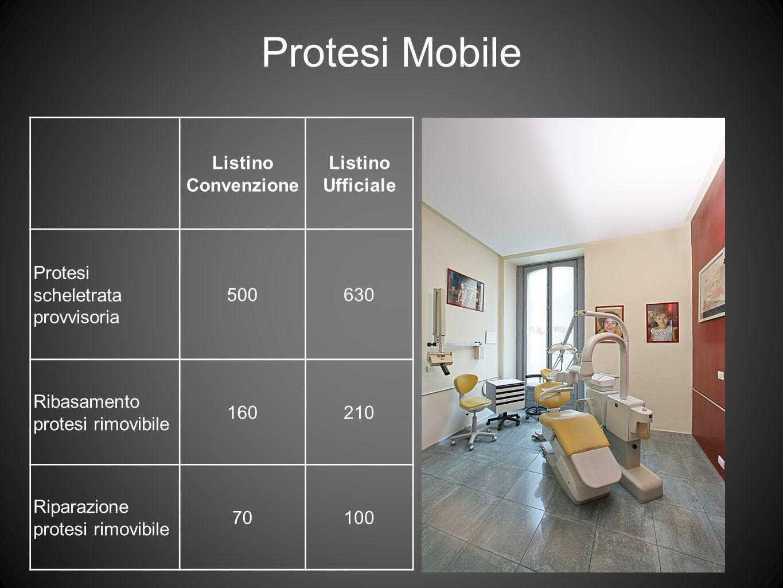 Protesi Mobile Listino Convenzione Listino Ufficiale