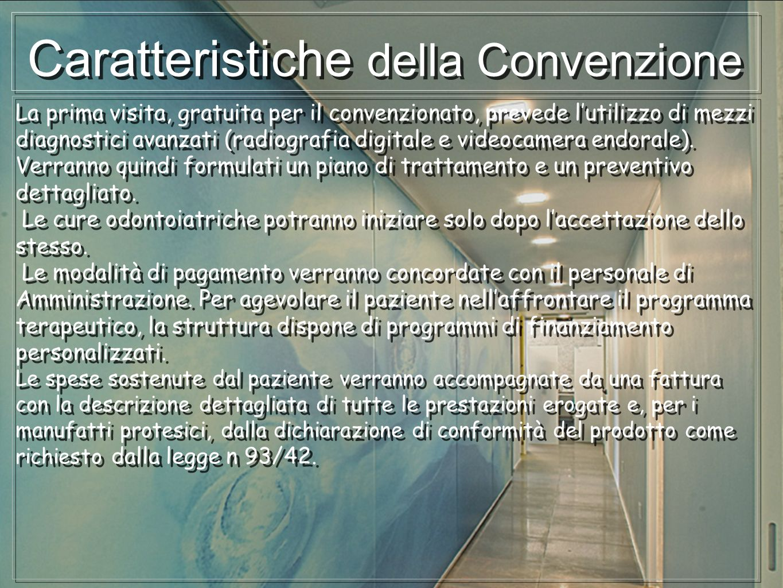 Caratteristiche della Convenzione