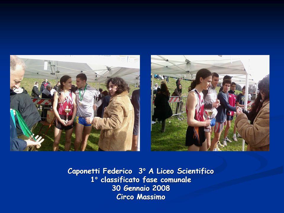 Caponetti Federico 3° A Liceo Scientifico