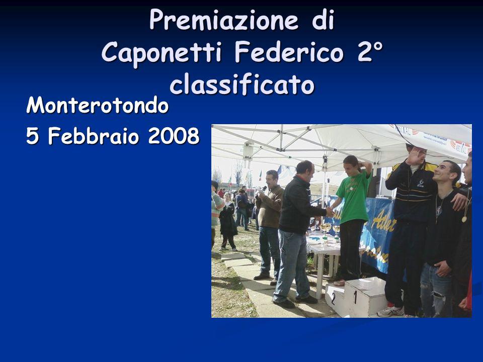 Premiazione di Caponetti Federico 2° classificato