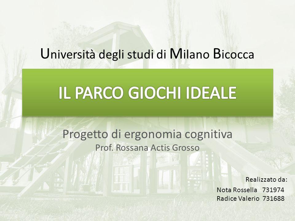Progetto di ergonomia cognitiva Prof. Rossana Actis Grosso