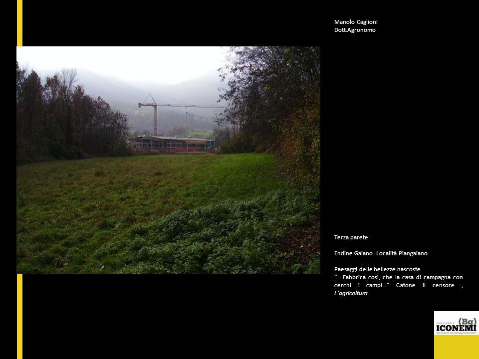 Manolo Caglioni Dott.Agronomo. Terza parete. Endine Gaiano. Località Piangaiano. Paesaggi delle bellezze nascoste.