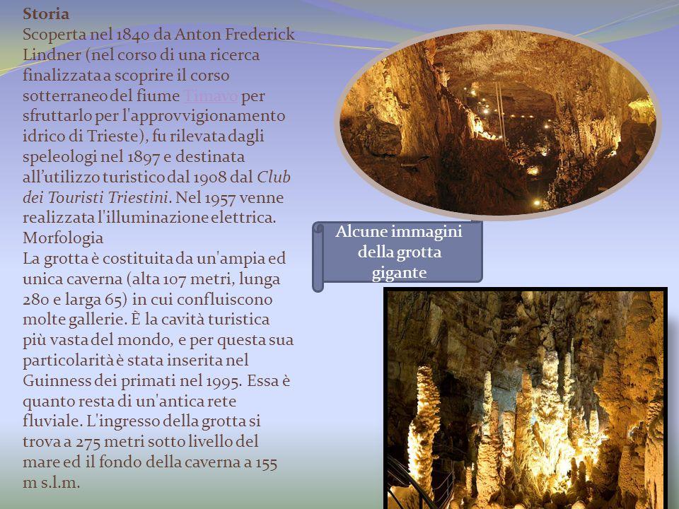 Alcune immagini della grotta gigante