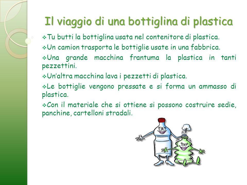 Il viaggio di una bottiglina di plastica