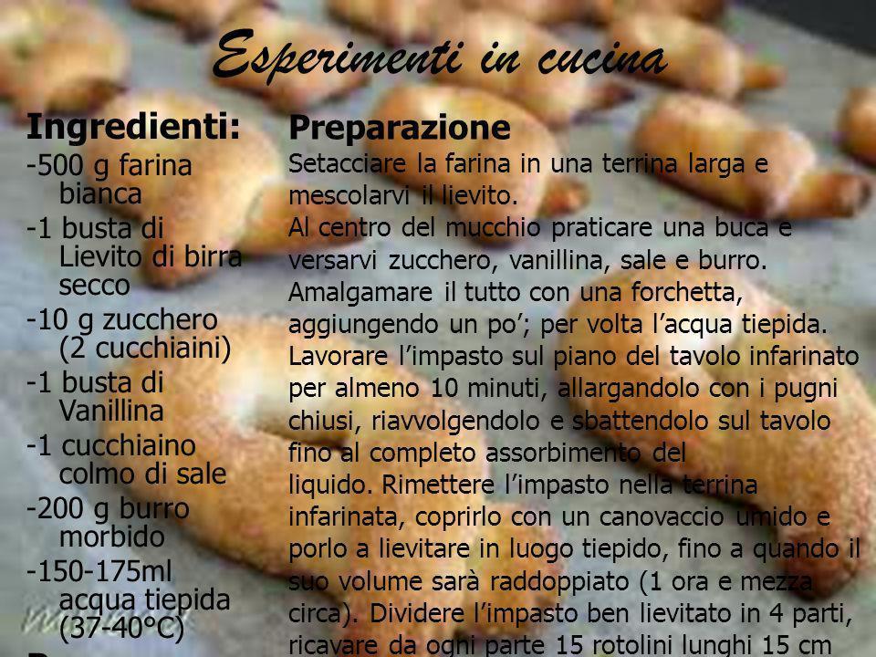 Esperimenti in cucina Ingredienti: Per cospargere: