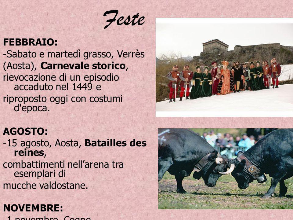 Feste FEBBRAIO: -Sabato e martedì grasso, Verrès