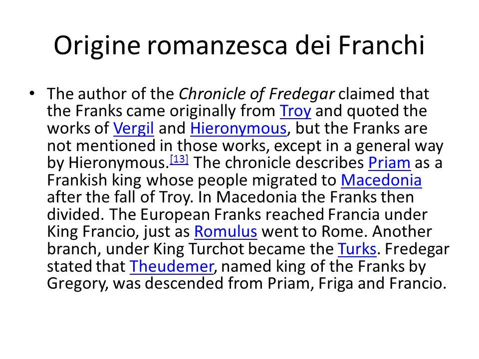 Origine romanzesca dei Franchi