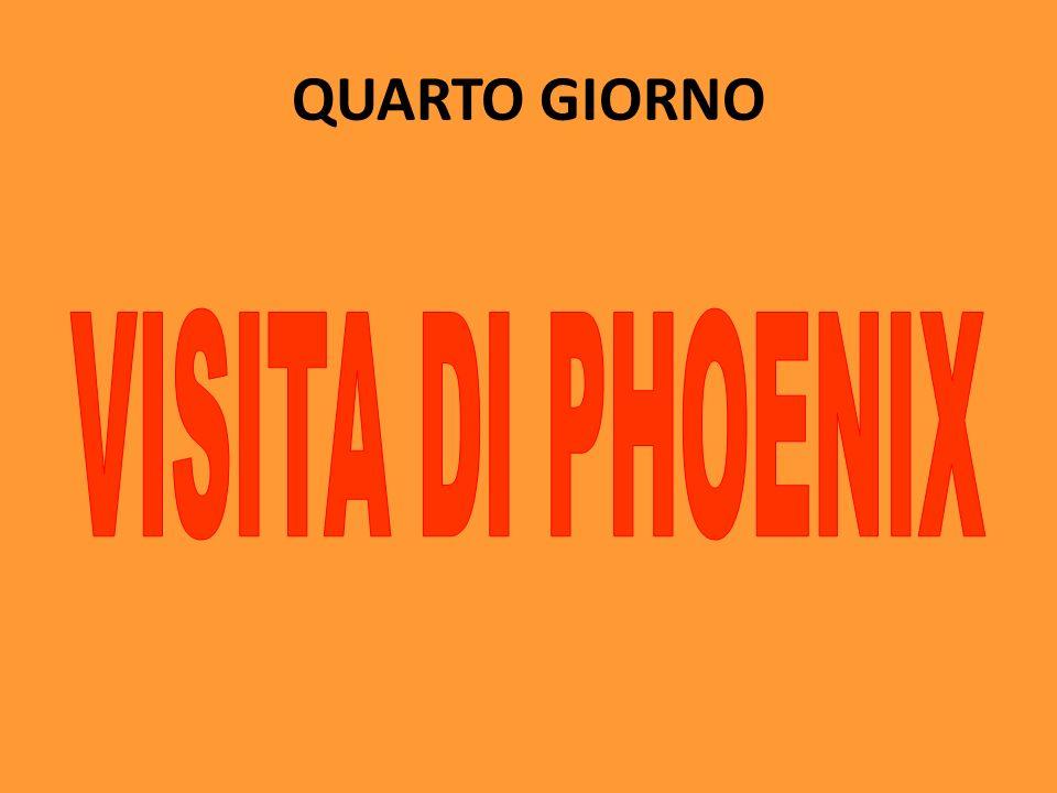 QUARTO GIORNO VISITA DI PHOENIX