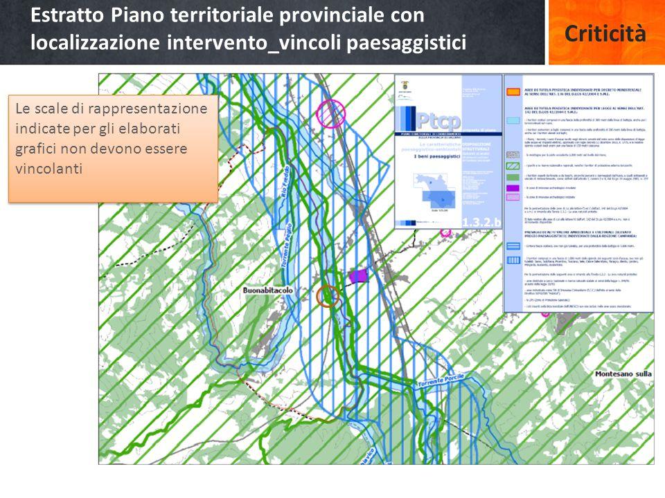 Estratto Piano territoriale provinciale con localizzazione intervento_vincoli paesaggistici