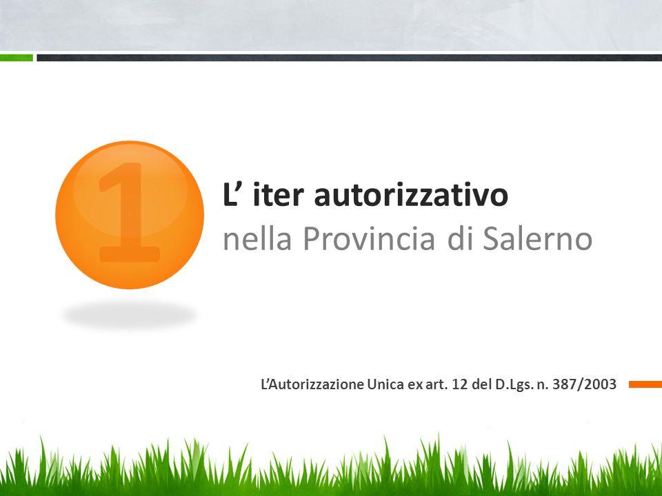 L' iter autorizzativo nella Provincia di Salerno