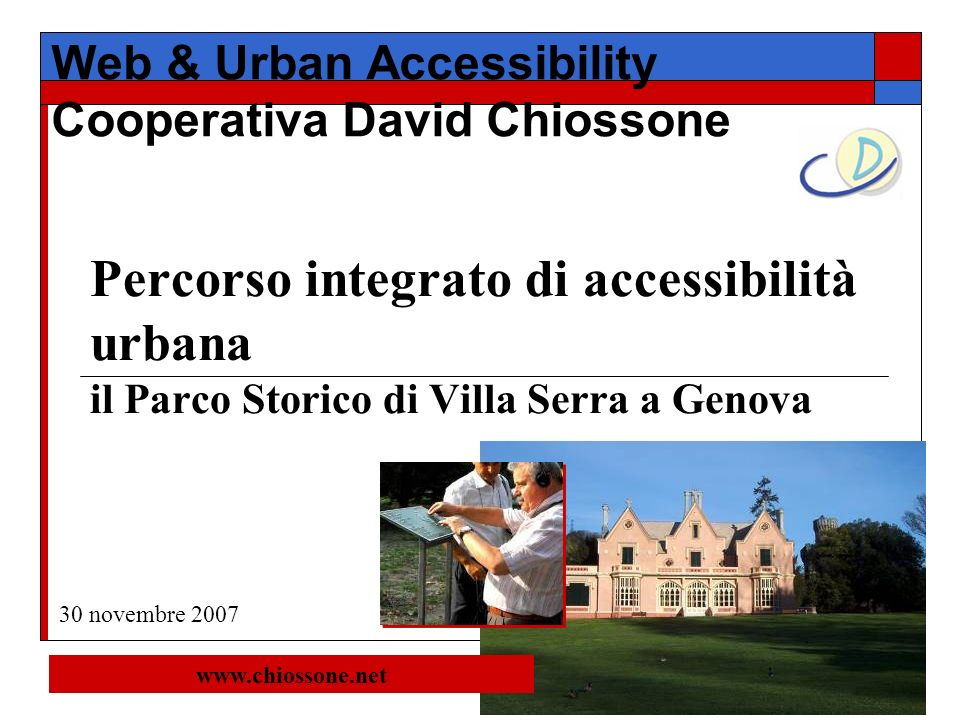 Web & Urban Accessibility Cooperativa David Chiossone