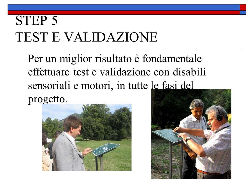 STEP 5 TEST E VALIDAZIONE