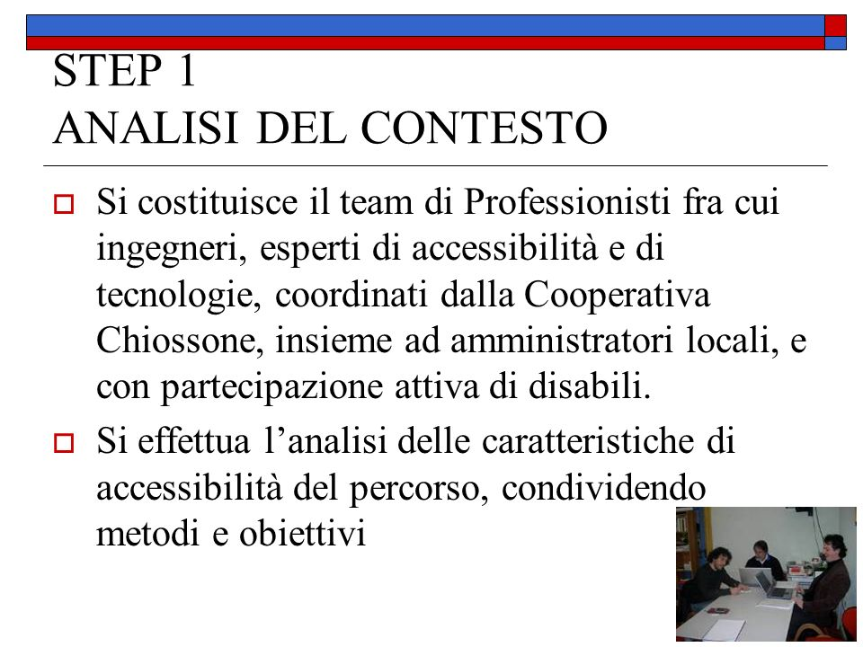 STEP 1 ANALISI DEL CONTESTO