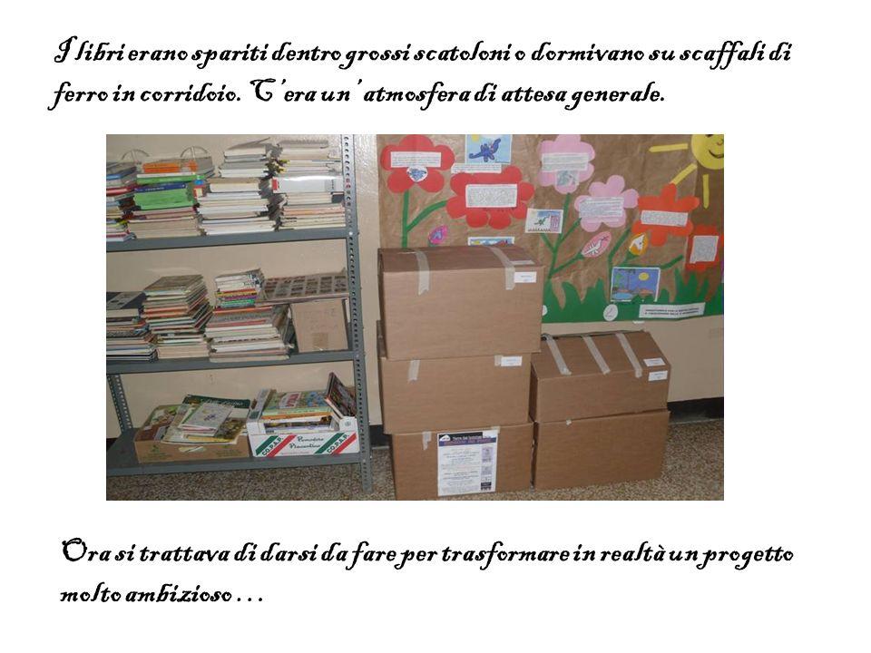 I libri erano spariti dentro grossi scatoloni o dormivano su scaffali di ferro in corridoio. C'era un' atmosfera di attesa generale.