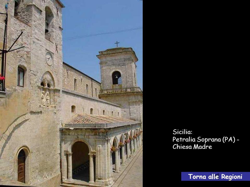 Sicilia: Petralia Soprana (PA) - Chiesa Madre Torna alle Regioni