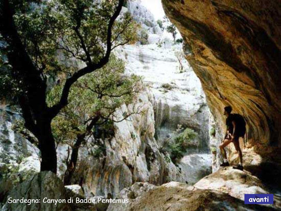 Sardegna: Canyon di Badde Pentamus