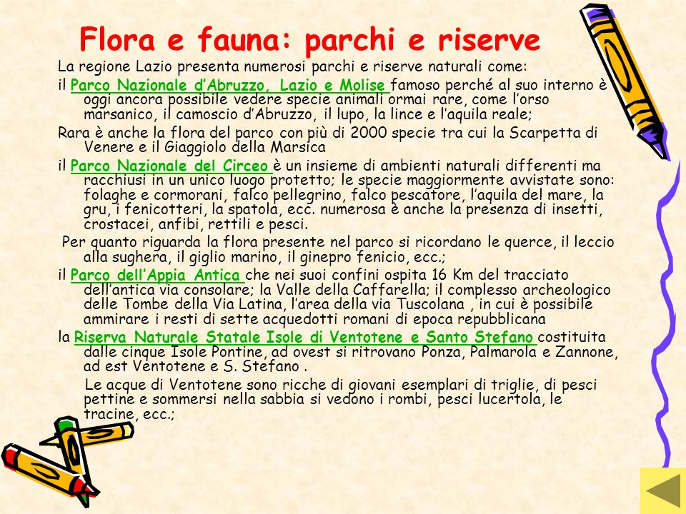 Flora e fauna: parchi e riserve