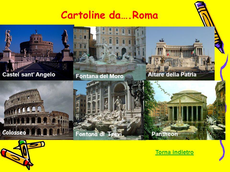 Cartoline da….Roma Castel sant' Angelo Altare della Patria