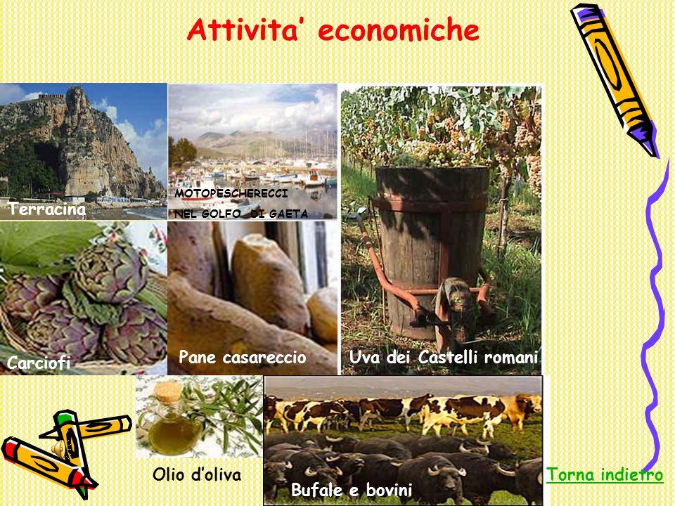 Attivita' economiche Terracina Pane casareccio Uva dei Castelli romani