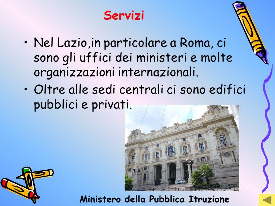 Oltre alle sedi centrali ci sono edifici pubblici e privati.