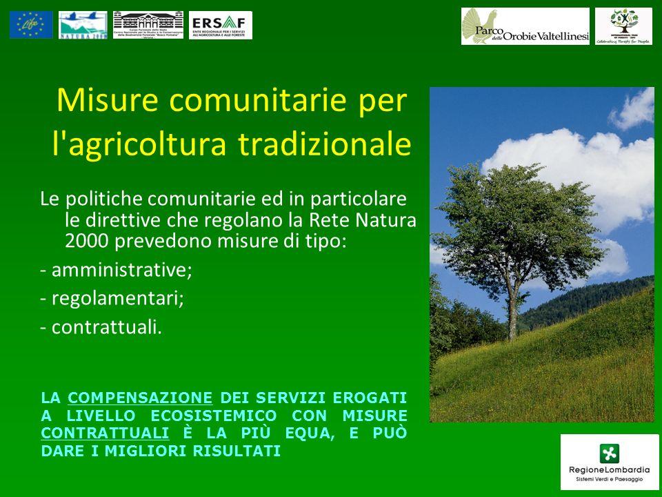 Misure comunitarie per l agricoltura tradizionale