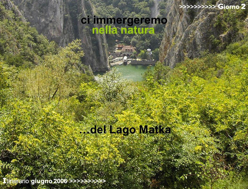 ci immergeremo nella natura …del Lago Matka