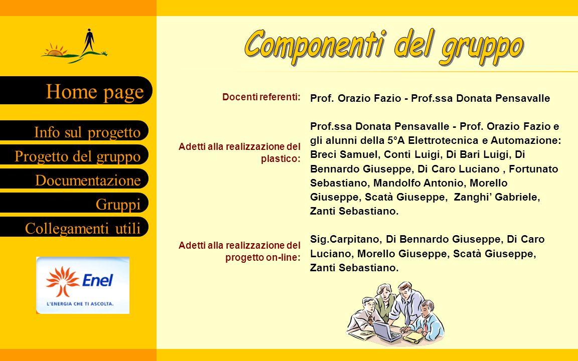 Componenti del gruppo Prof. Orazio Fazio - Prof.ssa Donata Pensavalle