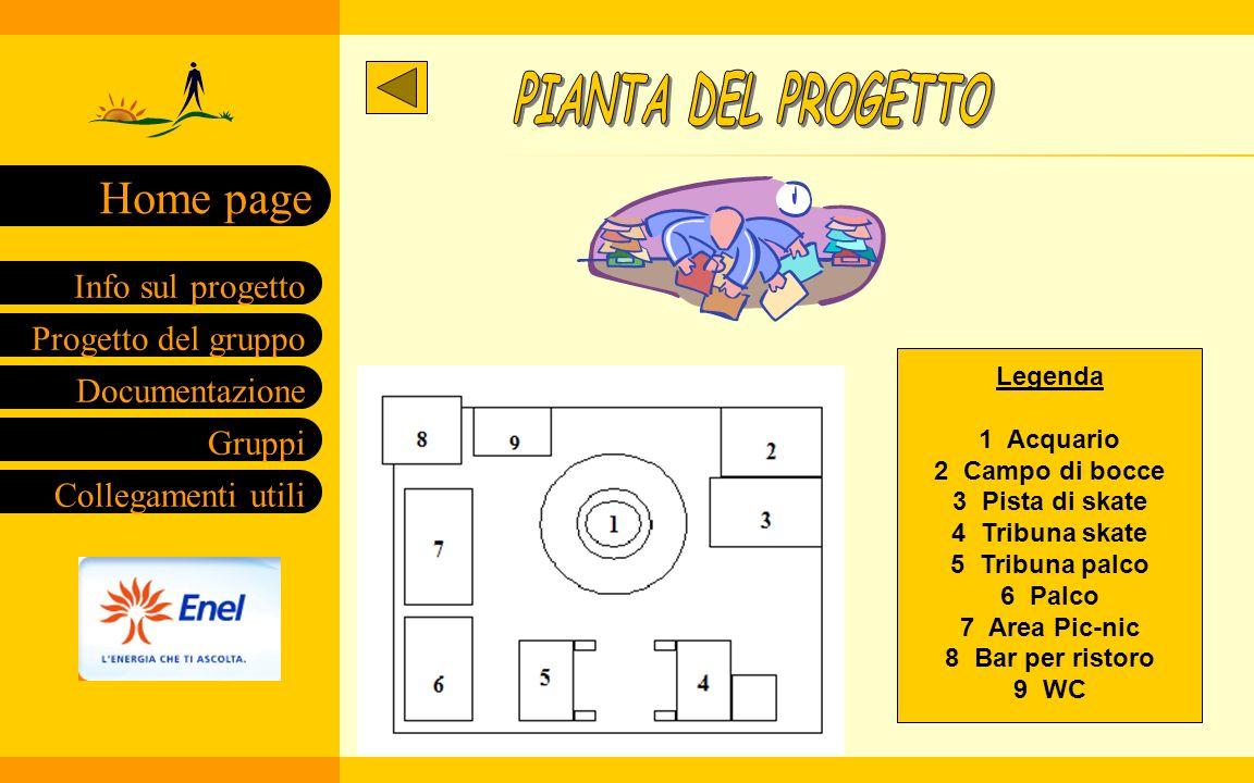 PIANTA DEL PROGETTO Legenda 1 Acquario 2 Campo di bocce