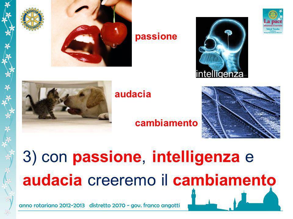 3) con passione, intelligenza e audacia creeremo il cambiamento