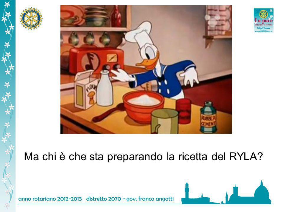 Ma chi è che sta preparando la ricetta del RYLA