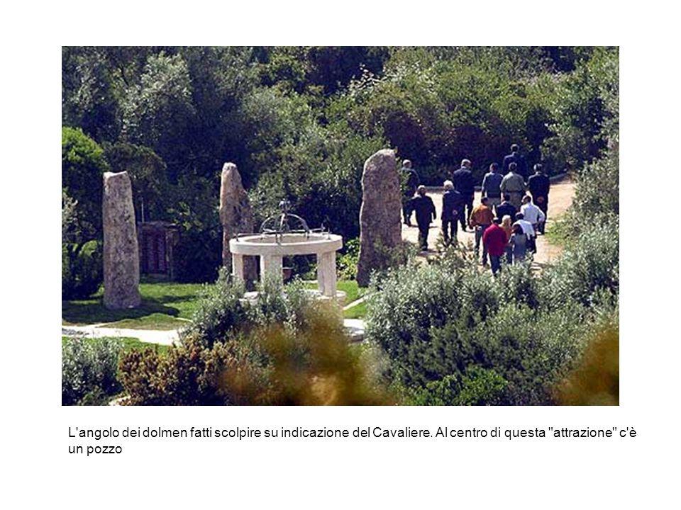 L angolo dei dolmen fatti scolpire su indicazione del Cavaliere