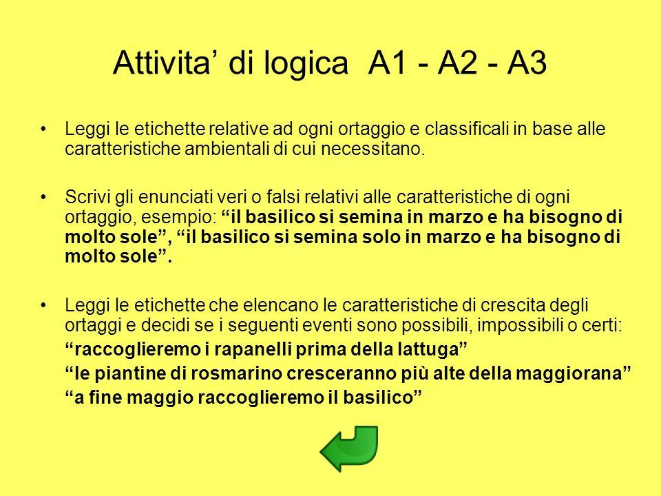 Attivita' di logica A1 - A2 - A3