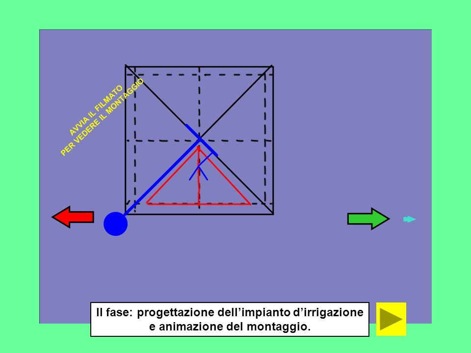 II fase: progettazione dell'impianto d'irrigazione e animazione del montaggio.