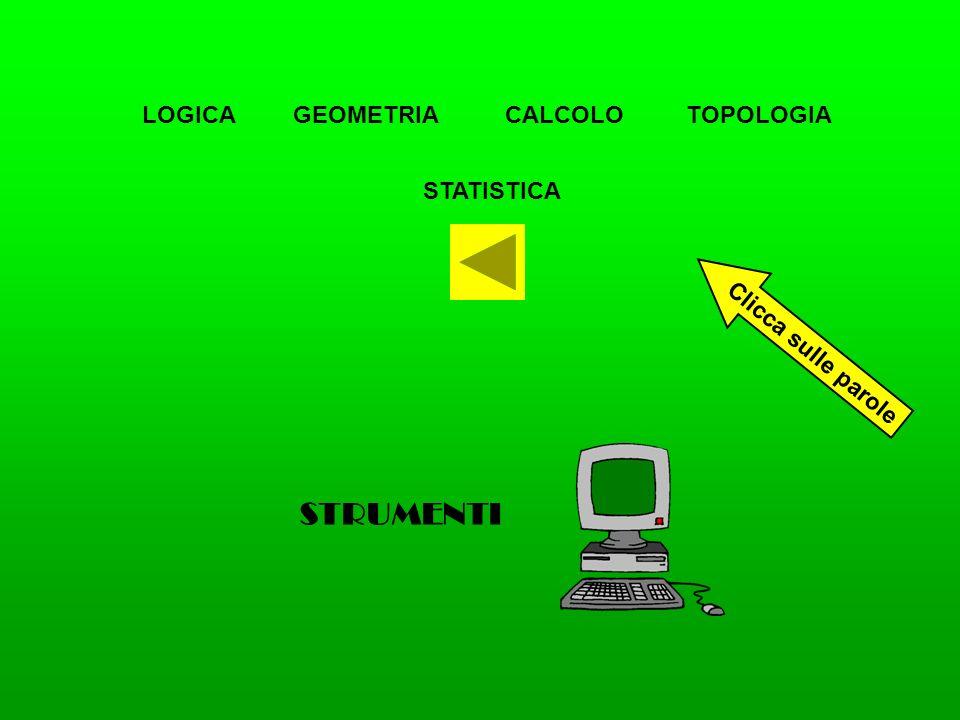 STRUMENTI LOGICA GEOMETRIA CALCOLO TOPOLOGIA STATISTICA