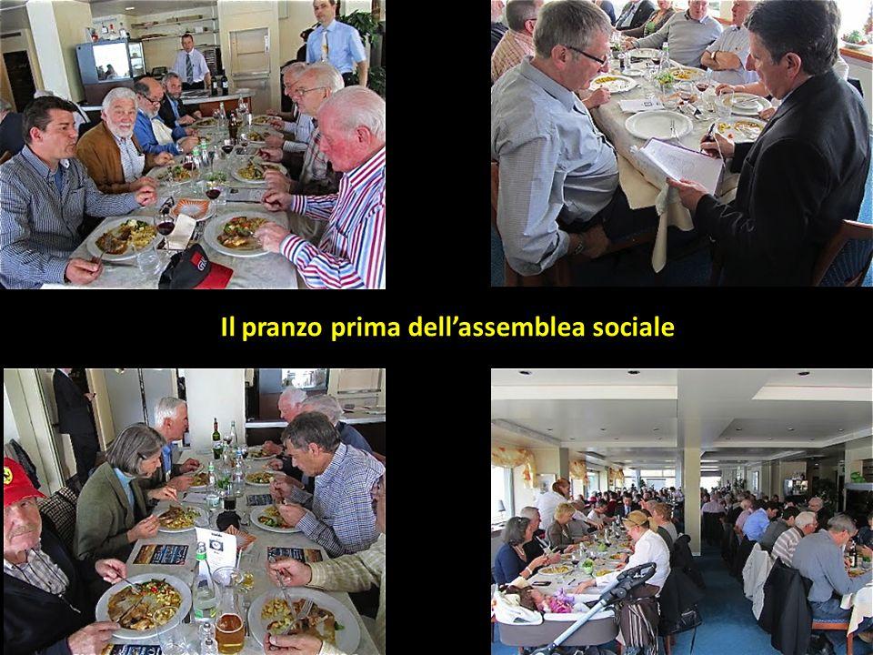 Il pranzo prima dell'assemblea sociale
