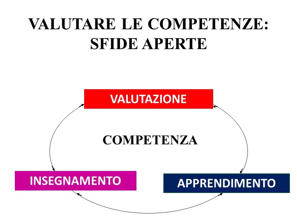 VALUTARE LE COMPETENZE: SFIDE APERTE