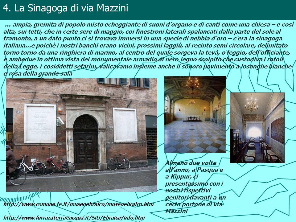 4. La Sinagoga di via Mazzini