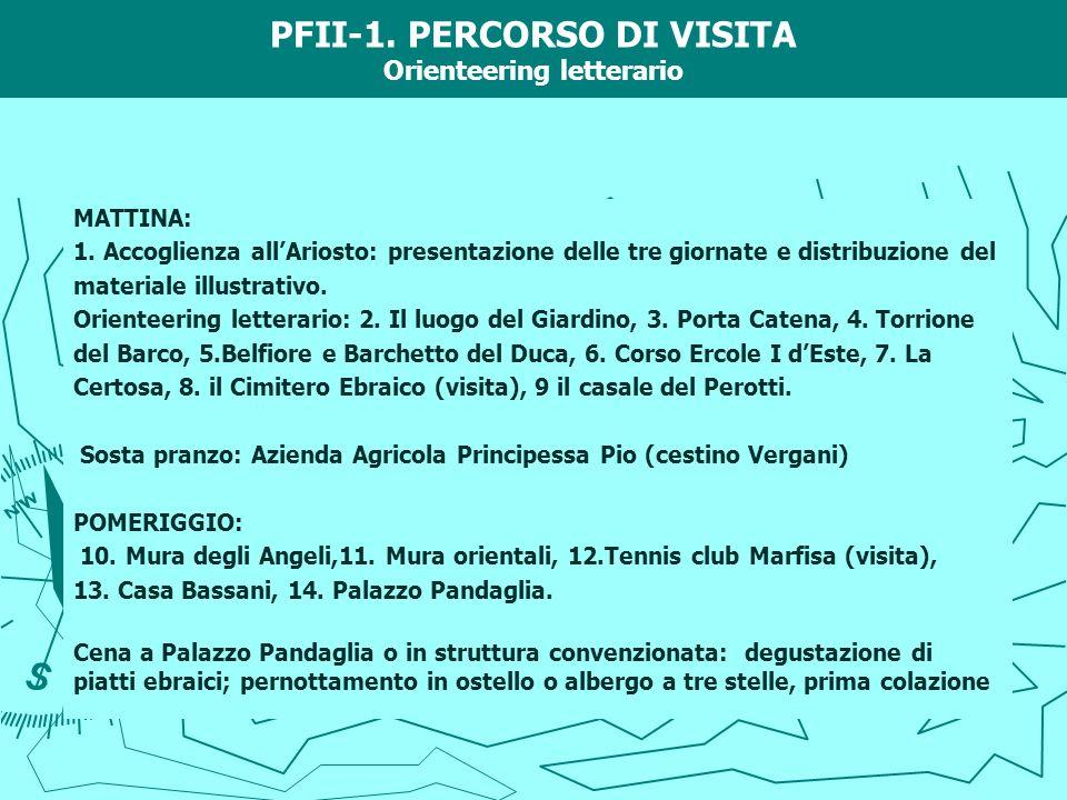 PFII-1. PERCORSO DI VISITA Orienteering letterario