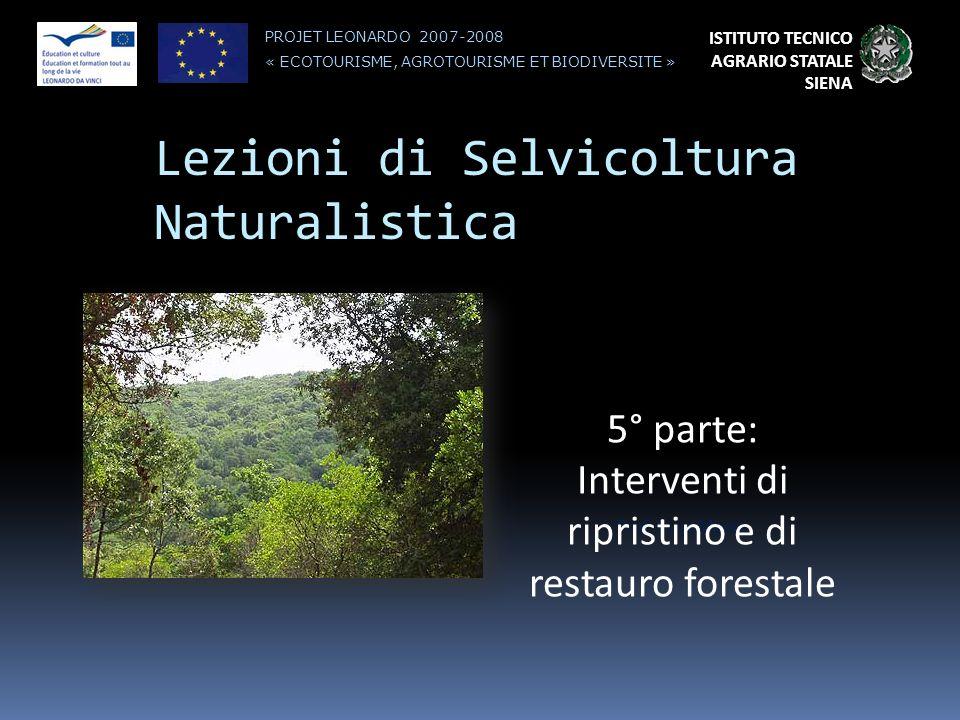 Lezioni di Selvicoltura Naturalistica