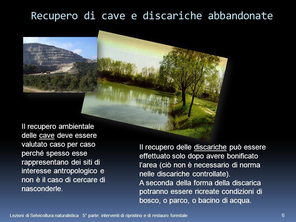 Recupero di cave e discariche abbandonate