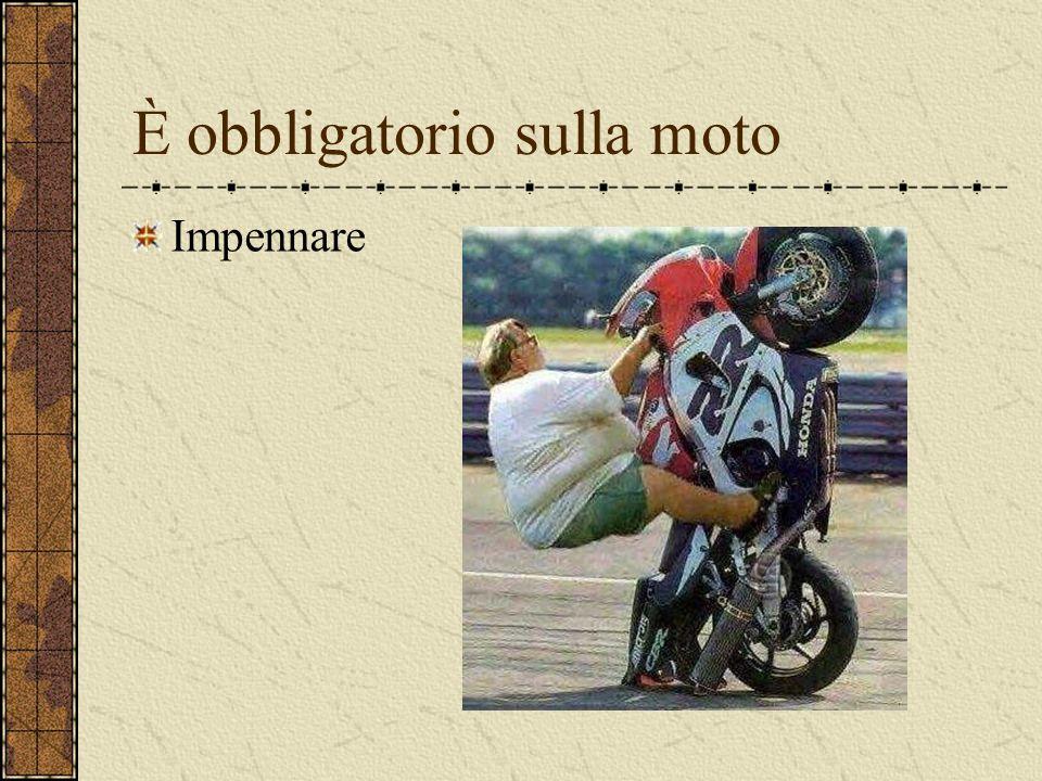 È obbligatorio sulla moto